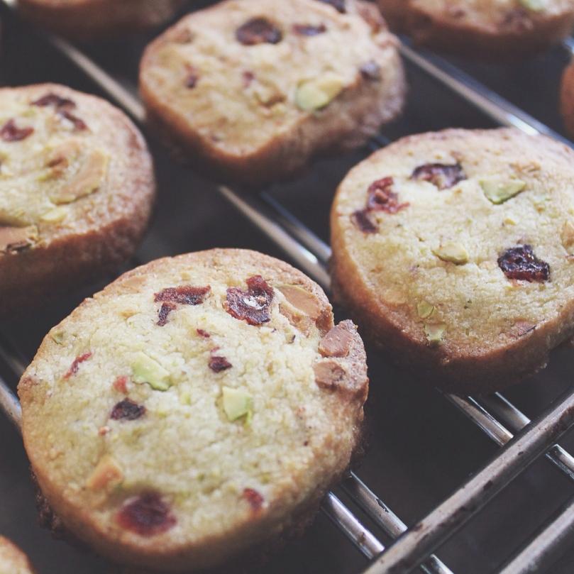 Cranberry & Pistachio Cookies