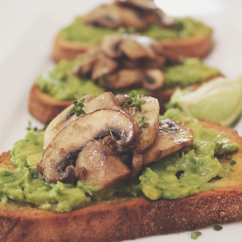 Mushroom and Avocado Toastie