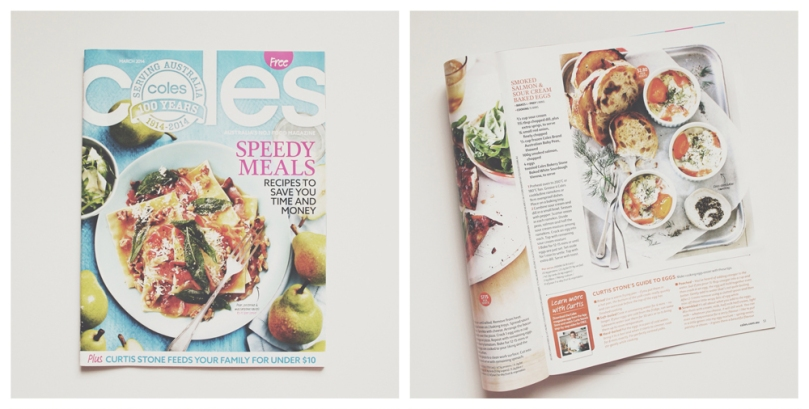 Coles Magazine: Smoked Salmon & Sour Cream Baked Eggs