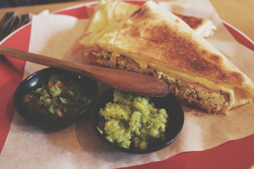 Cafe Con Leche: Ham & Chicken Quesadilla