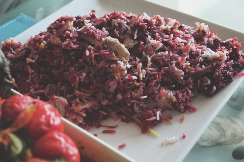 Persian Lunch: Albaloo Pollo