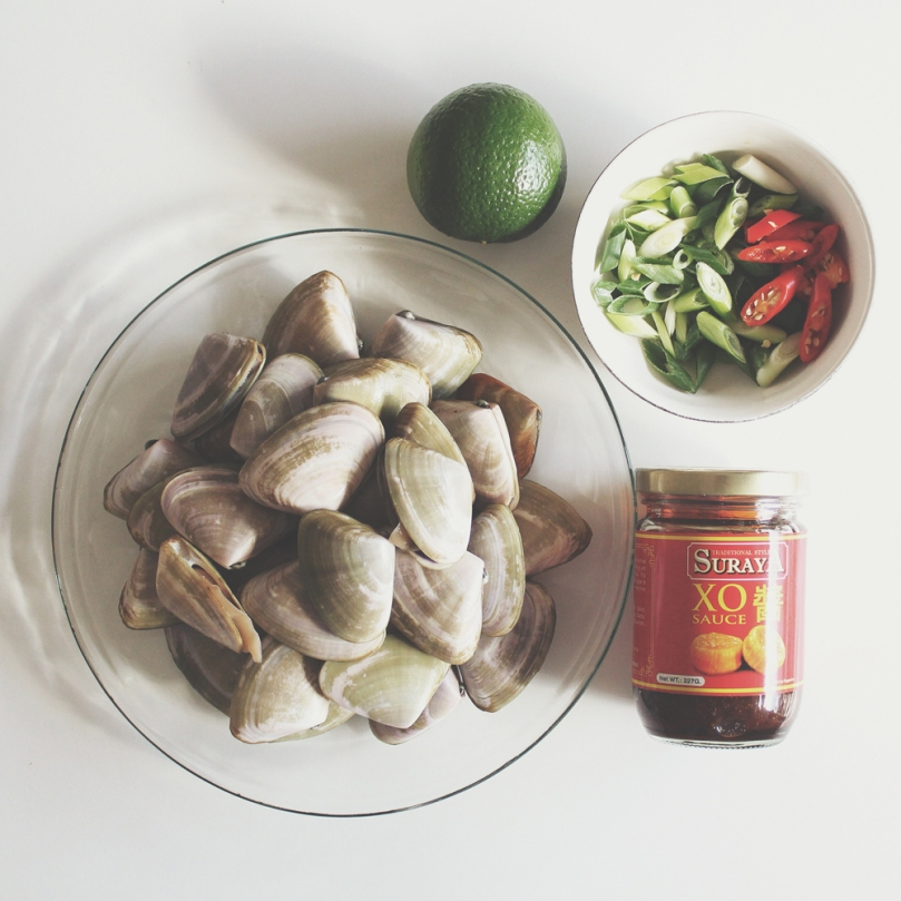 Stir-fried Pipis in XO Sauce Ingredients