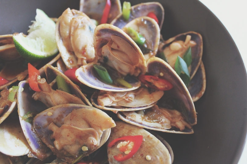 Stir-fried Pipis in XO Sauce