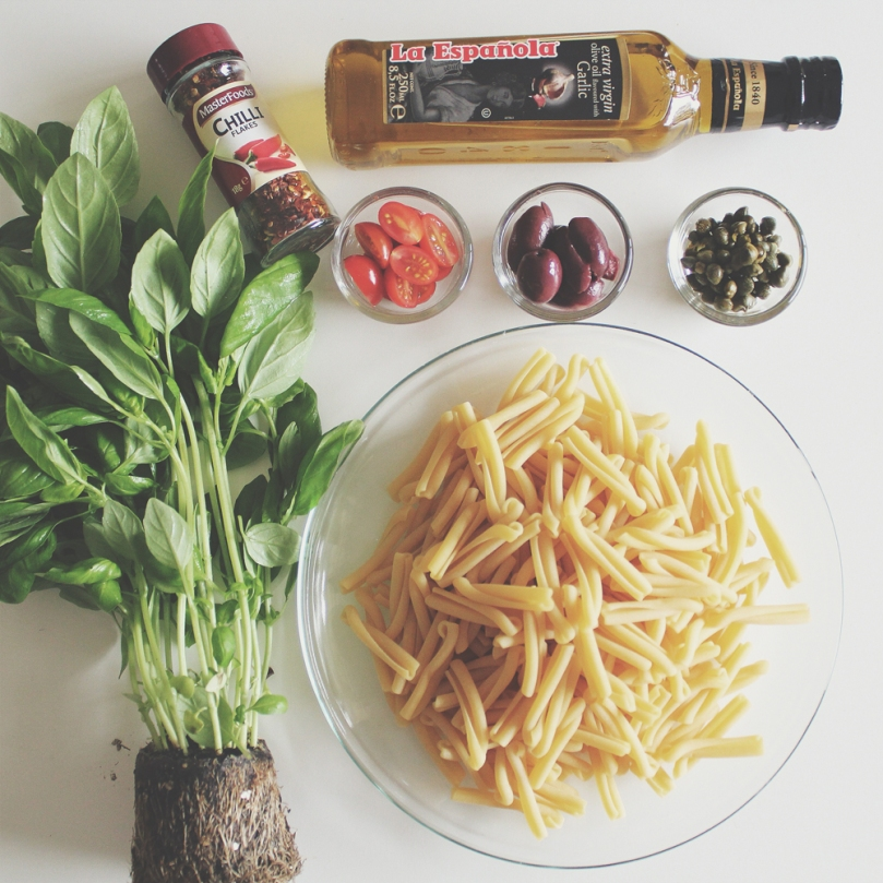 Neapolitan Casareccia Salad Ingredients