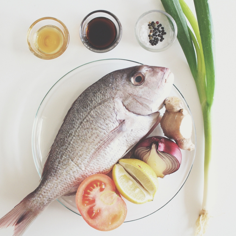 Steamed Whole Snapper Ingredients