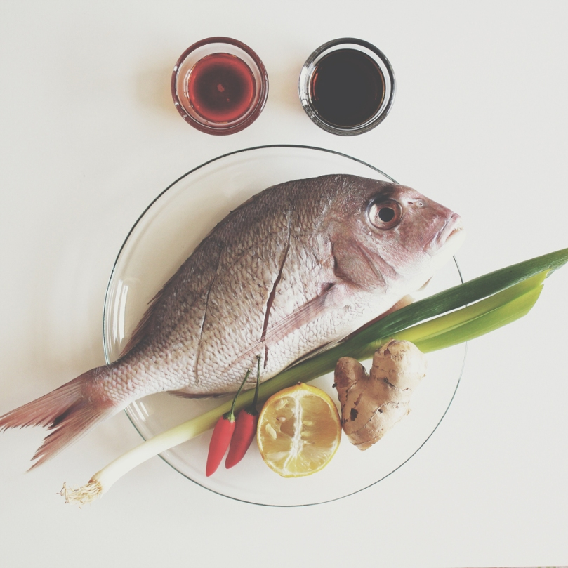 Pan-fried Whole Snapper with Chilli, Ginger, Shallot & Soy Sauce Ingredients