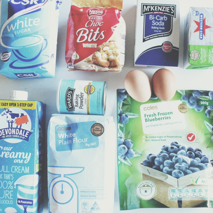 Blueberry & White Chocolate Pancakes Ingredients