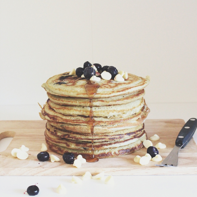 Blueberry & White Chocolate Pancakes