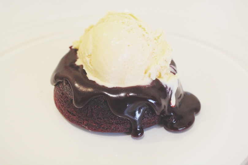 Red Velvet Chocolate Lava Cake