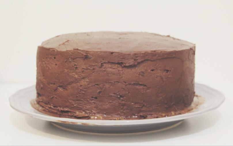 Layered Chocolate & Salted Caramel Cake