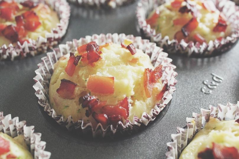 Breakfast Muffins: Bacon, Cheese & Zucchini