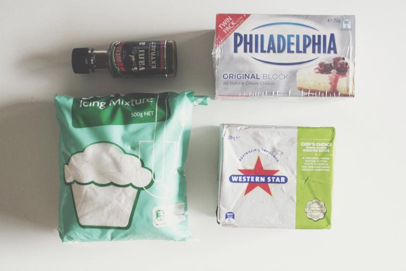 Red Velvet Cheesecake Ingredients