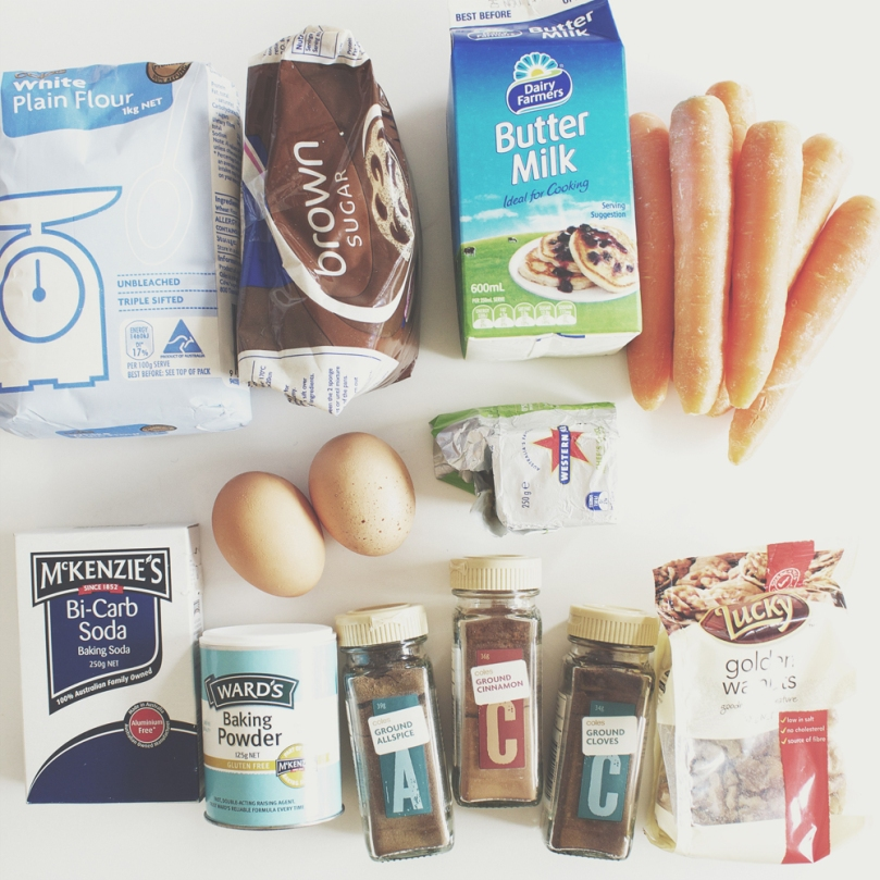 Breakfast Muffins: Spiced Carrot Ingredients