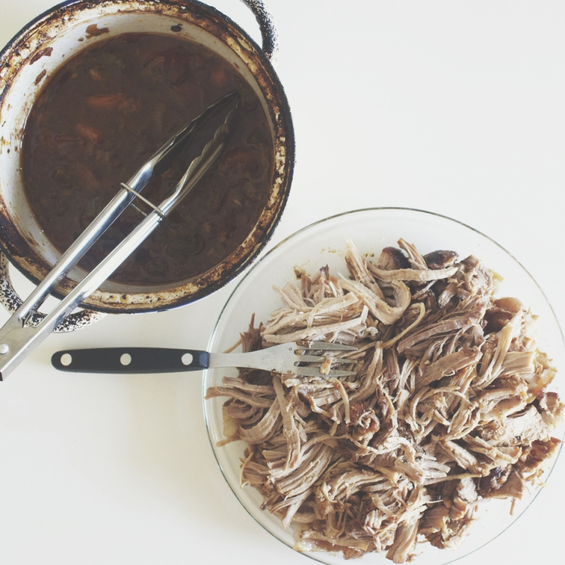Beer-braised Pulled Pork