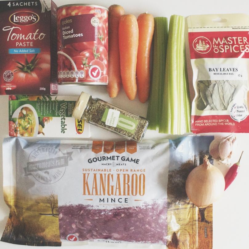 Kangaroo Bolognese Ingredients