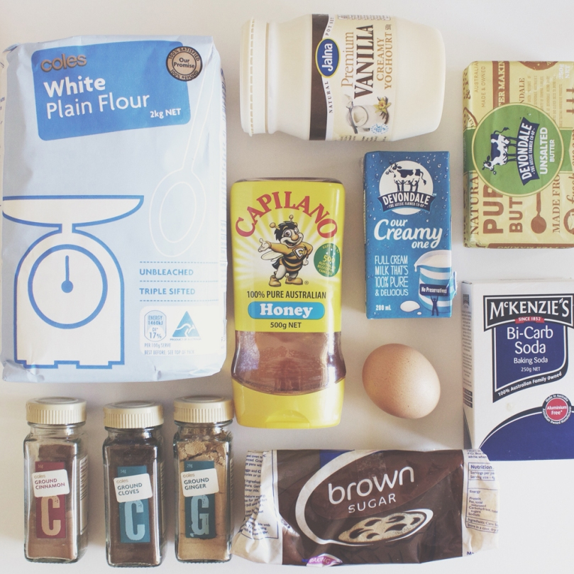 Breakfast Muffins: Gingerbread Ingredients