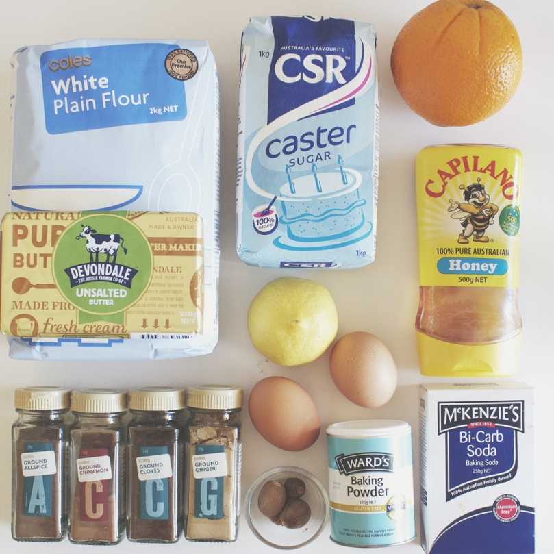 Gingerbread Cookies Ingredients