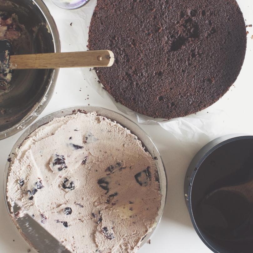 Cherry Ripple Black Forest Cake