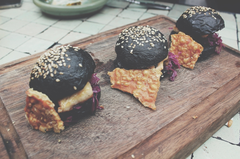 The Potting Shed at the Grounds - SHARE WITH FRIENDS: KUROBUTA PORK BELLY SLIDERS