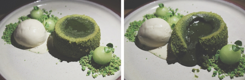 Devon Café (Devon by Night) - DESSERT: Matcha Fondant (Green Tea Molten Lava Cake)