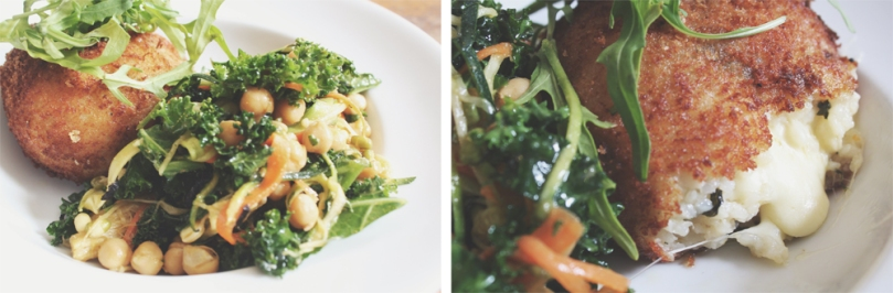 Ampersand Café & Bookstore - COUNTER ITEMS: ARANCINI & CHIC PEA SALAD