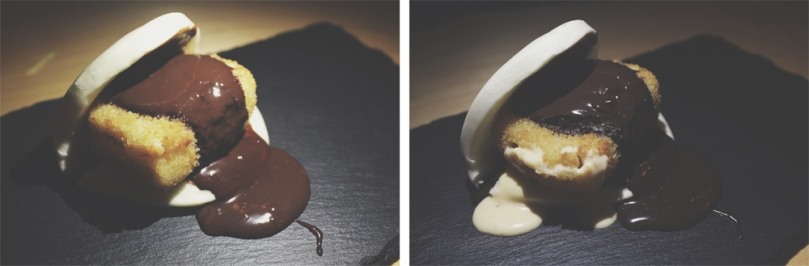 Devon Café (Devon by Night) - DESSERT: Fried Ice Cream Bao with Dark Chocolate Sauce