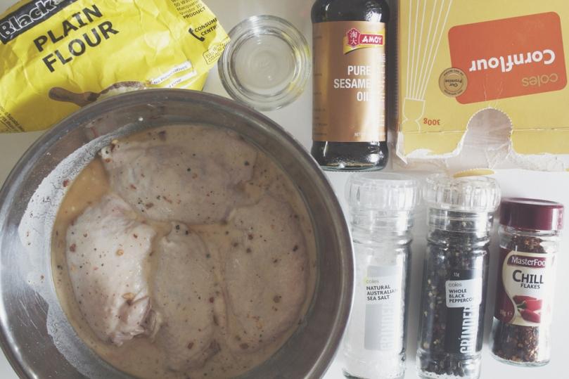 Ayam Goreng Ingredients