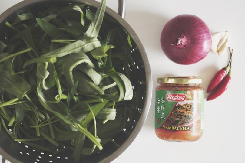 Kang Kong Belacan Ingredients
