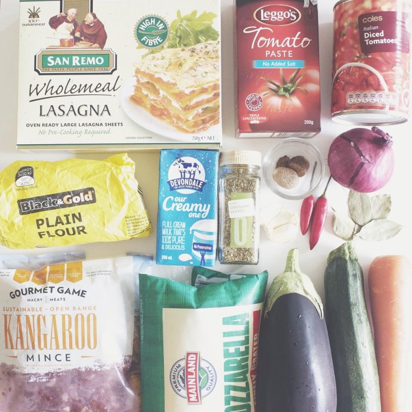 Kangaroo Lasagne Ingredients
