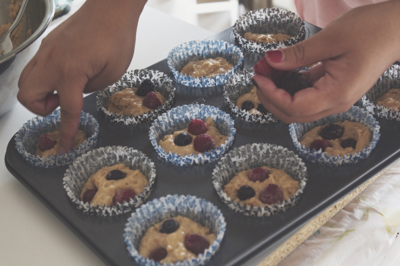 Breakfast Muffins: Mixed Berries