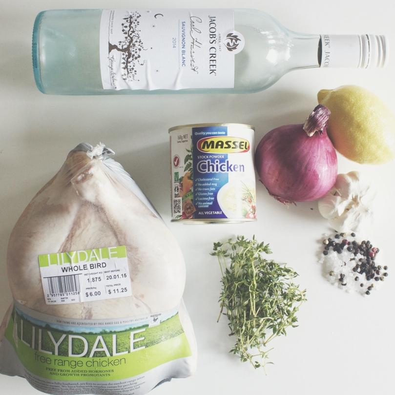 Lemon & Thyme Roast Chicken Ingredients