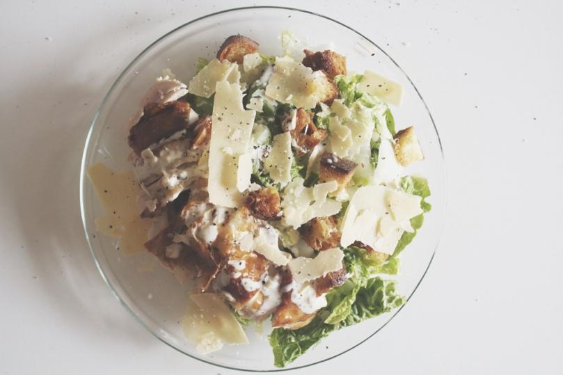 Caesar Salad with Lemon & Thyme Roast Chicken