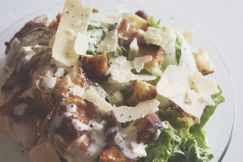 Caesar Salad with Lemon & Thyme Roast Chicken