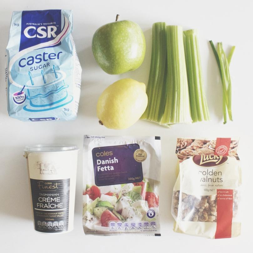 Celery & Green Apple Slaw Ingredients