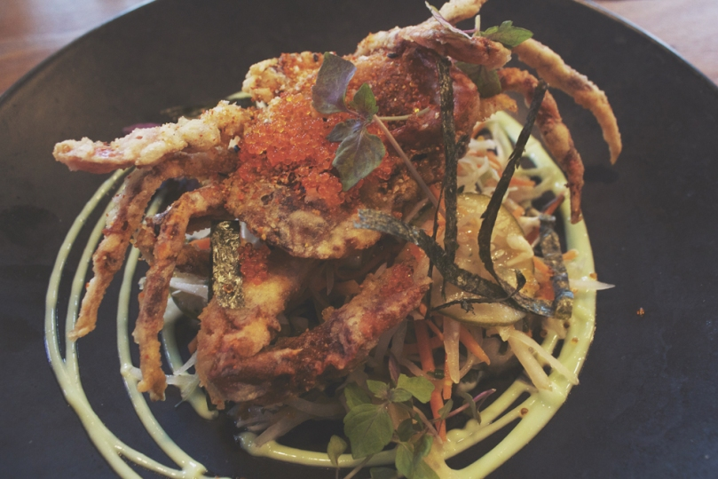 Devon on Danks: SOFT SHELL CRAB SALAD ala JAPANOIS