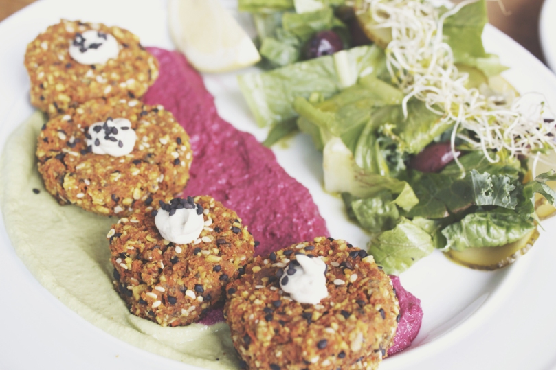 Sadhana Kitchen - CARROT AND WALNUT FALAFEL PLATE