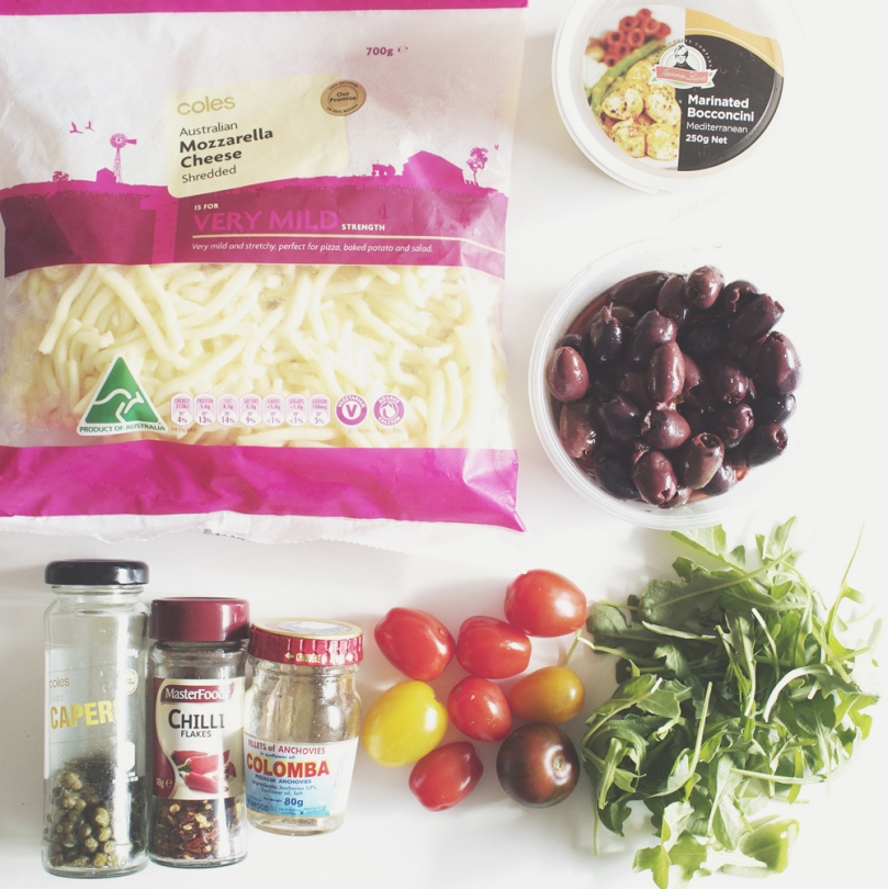 Anchovies & Capers Pizza Ingredients