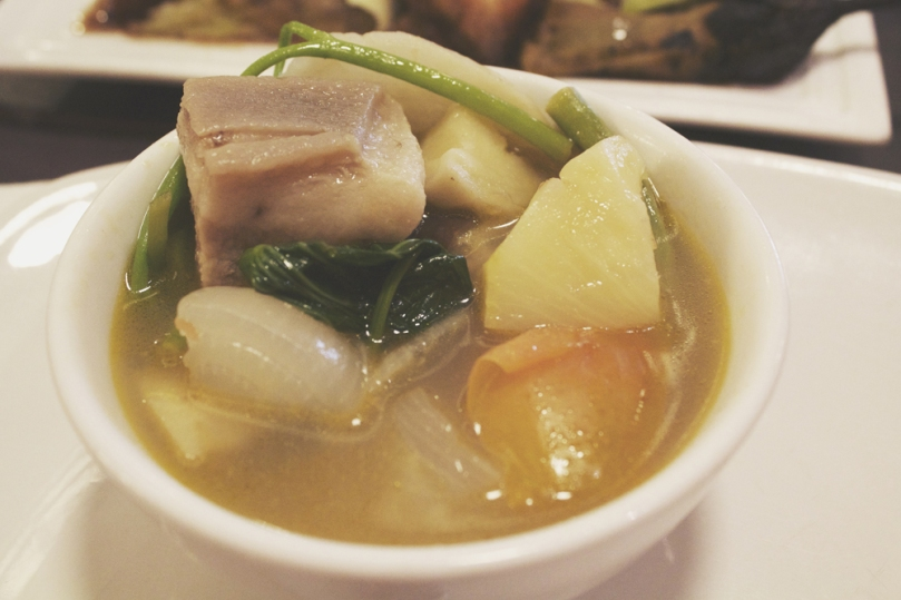 Mesa Filipino Moderne - SOUP: Sinigang na baboy in guava and pineapple