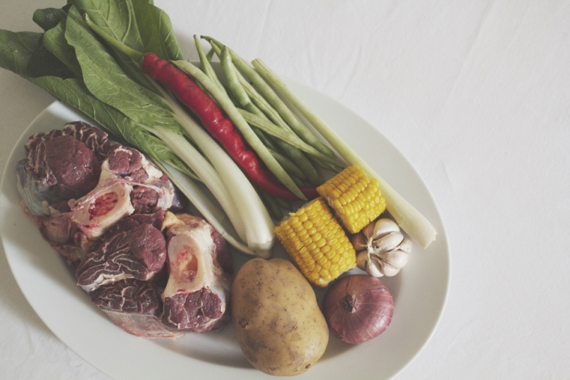 Bulalo (Beef Bone Marrow Soup) Ingredients