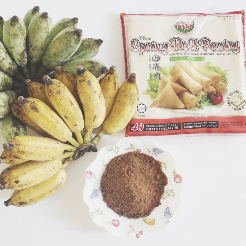 Turón Plátanos (Banana Spring Rolls) Ingredients