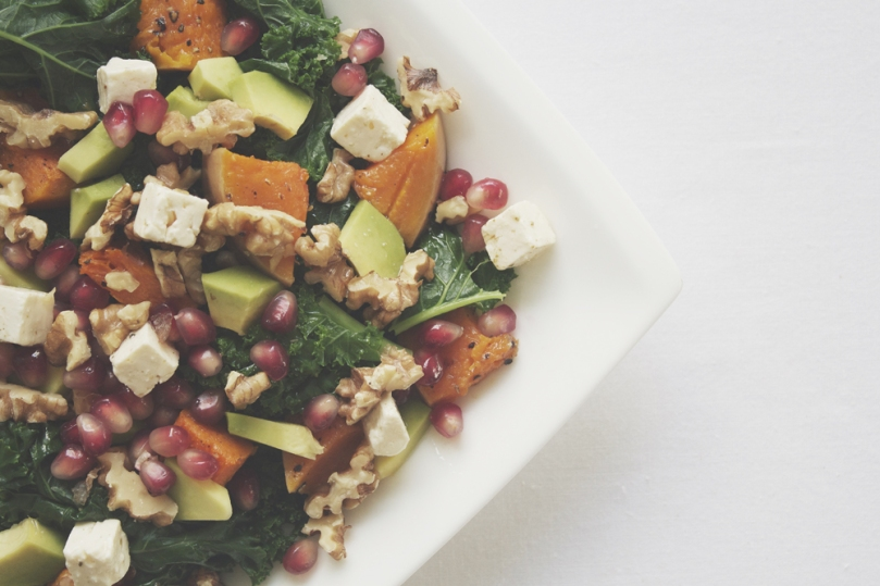 Avocado & Roast Pumpkin, Kale Salad