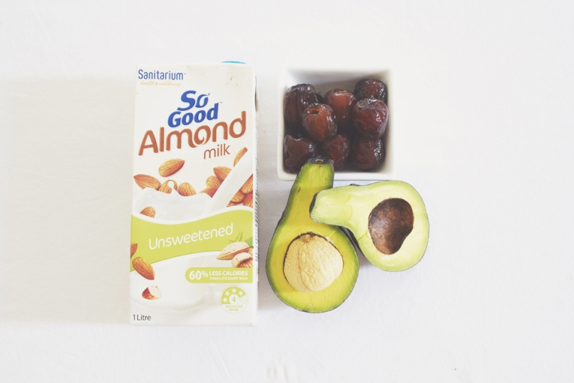 Avocado & Date Smoothie Ingredients