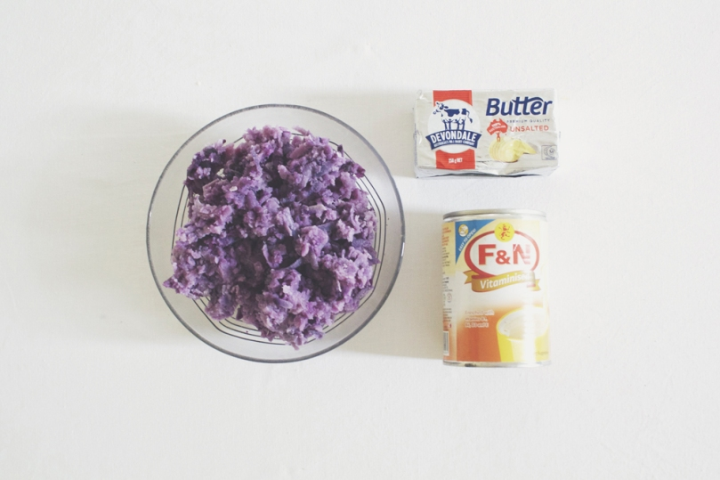 Ube Halaya (Purple Yam Jam) Ingredients