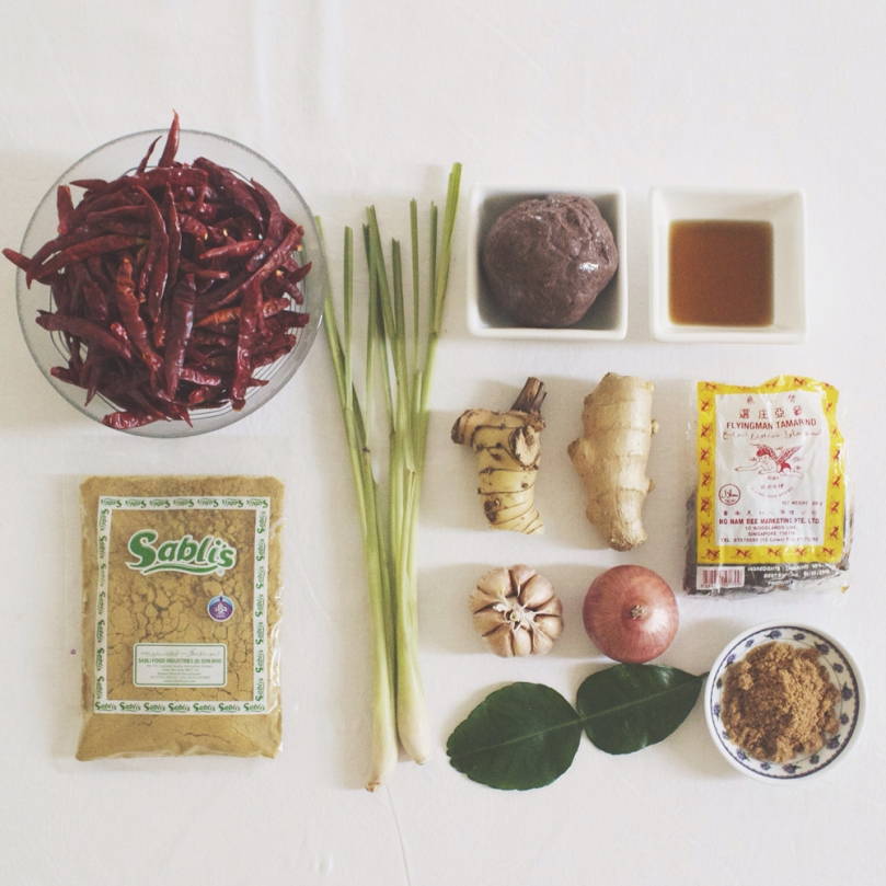 Homemade Tom Yum Paste Ingredients