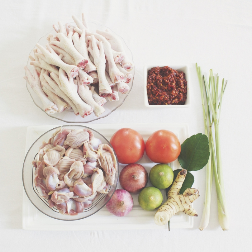 Tom Yum Gài (ต้มยำไก่) Ingredients
