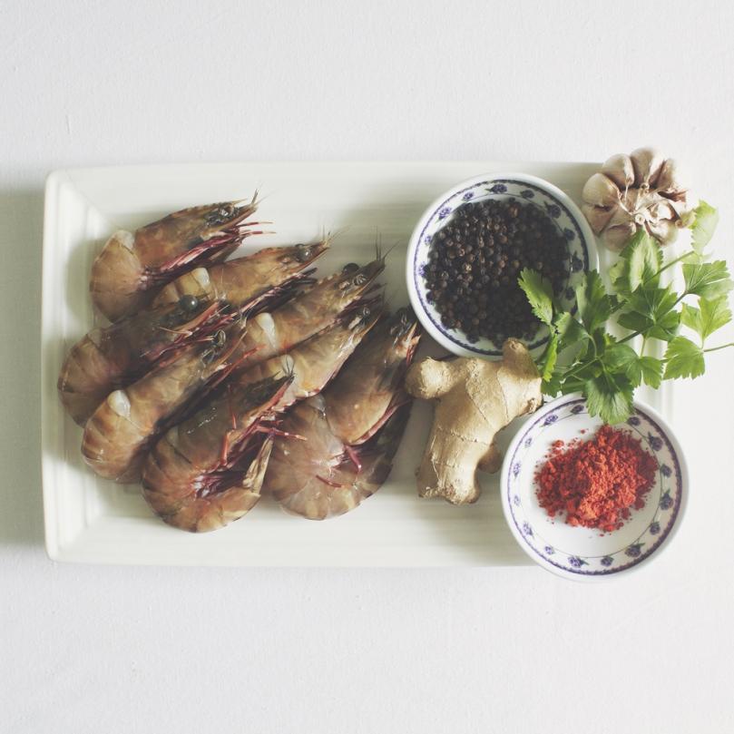 Goong Ob Woon Sen (กุ้งอบวุ้นเส้น) Ingredients