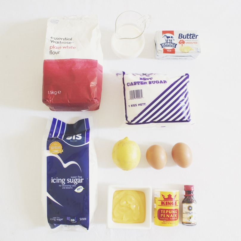 Graduation Day Lemon Curd Cupcakes Ingredients