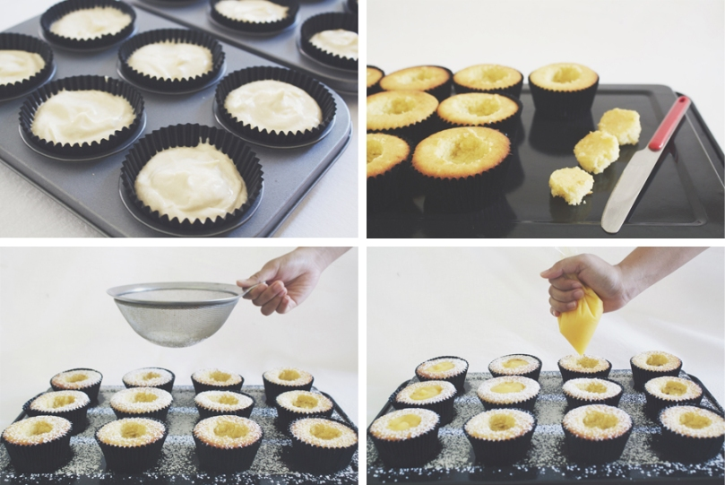 Graduation Day Lemon Curd Cupcakes Process