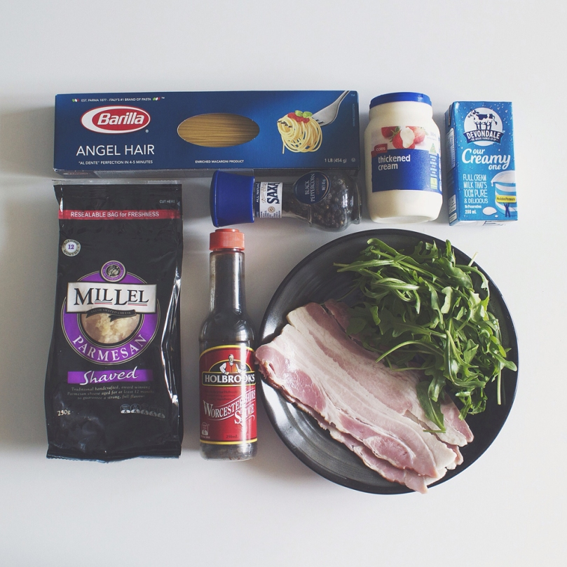 Angel Hair Carbonara Ingredients