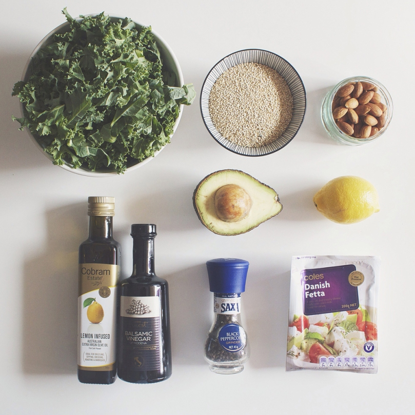 Kale & Quinoa Salad Ingredients
